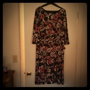 Studio one black floral dress